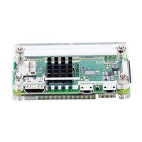 zero, framboesa venda por atacado-Capa de acrílico 4 em 1 kit para Raspberry Pi Zero W e Pi Zero com dissipador de calor