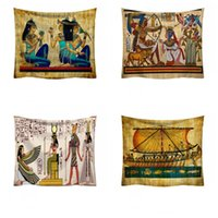 Wholesale cotton jacquard blanket resale online - Ancient Printing Tapestry cm Egyptian Pattern Hanging Cloth Beach Towel Blanket Home Decoration Party Supply Popular sm H1