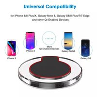 Wholesale branded solar charger online – High Quality Qi Wireless Charger Charging For Samsung S6 S7 Edge S8 Plus iphone X Fantasy High Efficiency Pad with retail package