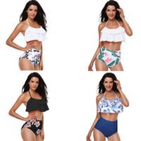 niedrige klammer großhandel-Frau badeanzüge sexy bikini langlebig mit brustpolster keine stahlklammer low back solide hohe taille 23