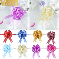 Wholesale large car bows for sale - Group buy 30pcs mmx120cm Pull Bows Large Ribbon Wedding Decoration Car DIY Gift Packaging Ribbons Party Valentines Day Crafts Christmas