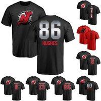 chemise chemise achat en gros de-2019 Nouveau T-shirt Jack Hughes T-shirt de hockey Devils du New Jersey 13 Nico Hischier 86 T-shirt Cory Schneider de Jack Hughes 9