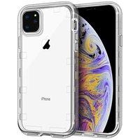 capa iphone silicone venda por atacado-Para a caixa do telefone Iphone 11 Clear Case 3in1 Heavy Duty capa de proteção de corpo inteiro para o iPhone 11 Pro Max