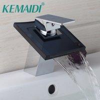 banyo muslukları krom toptan satış-KEMAIDI Banyo Bataryası Güverte Dağı Gri Torneira Banyo El Dokunmatik Havzası Musluk Krom Lavabo Dokunun Mikser