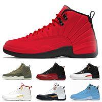 erkek ayakkabıları boyutu 13 toptan satış-HavaÜrdünRetro 12 Toptan Chaussures 12 s Erkekler Basketbol Ayakkabı CNY Spor Kırmızı OVO Beyaz Erkek Eğitmenler Spor Sneakers Boyutu 40-47