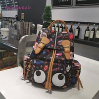 erro de flor venda por atacado-Rosa sugao mulheres mochilas designer bolsa sacola nova moda saco de escola sacos de viagem dos desenhos animados bonito bug olhos impressos flores oxford