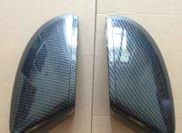 commande de voiture intérieure achat en gros de-Pour Scirocco Passat B7 Couvercles de rétroviseurs latéraux EOS (effet carbone) Capuchons pour VW Remplacer la coque