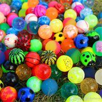 salto de goma al por mayor-200 unids / set Mixed Bouncing Balls Kids Rubber Toy para Niños Juguetes de Baño Al Aire Libre Juegos Deportivos Elastic Jumping Antistress Balls