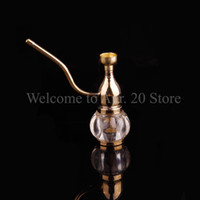 Wholesale brass pipe smoke resale online - Brass Water Pipe Coppery Smoking Filter Smoking Brass Water Pipe Herb Tobacco Pipes WP014