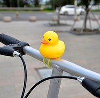 esprema o pato de borracha venda por atacado-Kids Bike chifre luzes bonito bicicletas sino Squeeze Horns para a criança Crianças Adultos borracha Ciclismo Luz Brinquedos Duck