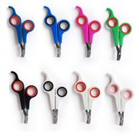 Lowest Price Pet Dog Cat Care Nail Clipper Scissors Grooming Trimmer 7 colors with DHL free shipping