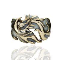 ingrosso drago scuro chiaro-Glow in luce fluorescente Dark Dragon anello del drago Band Ring Anelli
