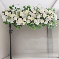 Wholesale wedding backdrops diy resale online - Upscale Artificial Silk Peonies Rose Flower Row Arrangement Supplies for Wedding Arch Backdrop Centerpieces DIY Supplies