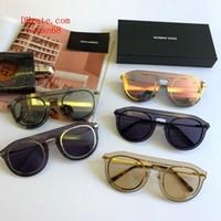gafas de sol polarizadas circulares al por mayor-5 colores Gafas de sol de calidad superior para mujer Marco de metal de la marca de moda Colorido circular gafas de conducir polarizadas Gafas de sol de moda