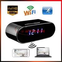 видеоролики оптовых-Z10 Wi-Fi Mini Camera Control Скрытый ИК Ночная версия Будильник Цифровые Часы Видеокамера DV DVR Видеокамера Детская няня Монитор Cam DHL