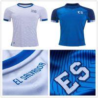 ulusal isimler toptan satış-2019 Altın Kupa Milli Takım El Salvador Futbol Formaları 8 PJANIC Özel Herhangi İsim Numarası Ev Uzakta Mavi Beyaz Futbol Forması Gömlek
