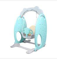 bebek sandalyeleri toptan satış-Yapışık salıncak aile aile için Küçük kapalı oyun alanı bebekler Anaokulu çocuk çocuklar için Plastik Salıncak Sallanan sandalye kapalı eğlence