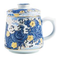 tazas de esmalte de ceramica al por mayor-Tazas de esmalte con filtro hecho a mano Tazas de esmalte con filtro Cerámica hecha a mano tazas de té Taza de té china de alta calidad Accesorios