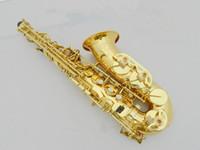 14f45a579b27 Francia 54 Saxofón Alto R54 Sax Bb Bajando B Saxofón bañado en oro con  boquilla Alto Instrumentos musicales populares
