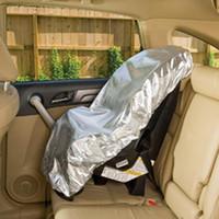 bloco de assento venda por atacado-Universal Anti-UV Assento de Carro Criança Capa Protetora Protetora Contra Poeira Capa de Proteção Solar Bloqueio Modelo Roxo Prata do bloco de sol