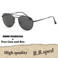 3b5b1bd2af Brand design High Quality Real Glass Lens Round Sunglasses Women Men Luxury  Stainless Steel HD Sun Glasses Oculos De Sol with original box