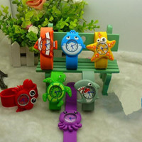 Wholesale snap wristwatch for sale - Group buy Fashion Funny Ocean animal series kid Slap wristwatches Cute Crab Shark dolphin Fish Snap Slap watch Silicone Candy Watch Quartz Watches
