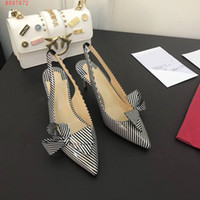 белые точечные насосы оптовых-Модный женский клерк с высоким каблуком Clare Nodo на высоком каблуке 6,5 см