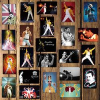 Wholesale Mike86 Freddie Mercury Music Metal Sign Wall Plaque Custom Poster Personality Classic Iron Painting Decor Art LT