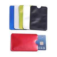 metal rfid kredi kartı kasaları toptan satış-10 Adet / paket Anti-hırsızlık Okuyucu Kilidi Bankası Kimlik Vaka Anti Rfid Engelleme Kart Sahibinin Akıllı Güvenlik Koruma Metal Kredi Kartı Tutucu