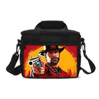 ingrosso scatola del vino-Red Dead Redemption 2 Lunch Bag Cooler Wine Box Case impermeabile Tote Thermal Icepack Isolamento Pacchetto Picnic Fresh Keep Picnic