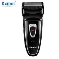 trimmer électronique achat en gros de-Kemei rasoir électrique alternatif machine de rasage électronique rotatif Barbeador soins du visage trimmer 43D
