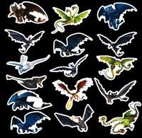 etiqueta de la pared del tren de dibujos animados al por mayor-42 unids / set Graffiti Sticker Personalidad Cómo entrenar a tu dragón 3 Equipaje DIY pegatinas cartoon PVC Wall bag niños juguetes