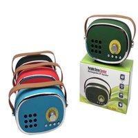 usb tv radyo çalar toptan satış-SLC-068 Retro TV Bluetooth Mini Hoparlör FM Radyo USB TF MP3 Çalar Destekler Kablosuz Taşınabilir Soundbox Stereo HiFi Hoparlör