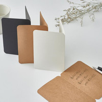 20*15cm Kraft Paper Blank Folded Cards Handmade Postcard Greeting Cards Paper Crafts Art Paper Party DIY Scrapbooking QW9478