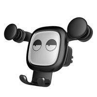 clip telefone montagem venda por atacado-Moda Car Phone Holder Gravidade celular KickStand Universal Air Vent Mount Clipe Titular para Smartphone Car Titular Do Telefone Móvel atacado