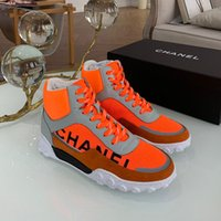 Wholesale matching sneakers men women resale online - Hot luxury sports Ankle Boots women dress Casual shoes Lace up flats Canvas Color matching fashion high top mans sneakers Couple models
