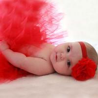ingrosso ragazza neonata foto outfits-Gonna Tutu Gonna Neonato Carino Fascia Foto Prop Costume Bambino Bambini Vestito Neonato Gonna Torta Corta Per 0-12 M