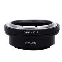anillo adaptador de aluminio al por mayor-Aleación de aluminio FD-FX de alta precisión para Canon FD Montaje de anillo adaptador de lente para Fujifilm FX X Mount X F X-Pro1 Cámara