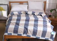 красное хлопковое одеяло оптовых-100% хлопок лето одеяло плед кондиционер одеяло серый красный шить стеганое одеяло тонкий бросок для взрослых детей