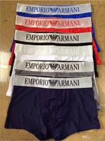 ingrosso cinturino in pugile-19fw Designer Boxers Luxury Brand Mens Intimo Medusa Stampato maschio Boxer Underpants Cintura 6 colori disponibili Vendita calda