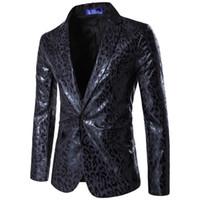 terno de impressão leopardo para homens venda por atacado-Ternos dos homens Outono Inverno Moda Estampa de Leopardo Terno Melhor Homem Vestido Imagem Real Dos Homens Ternos de Casamento de Negócios Blazer O8R2