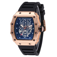 Wholesale pirates watches for sale - 2019 New Pirate Skull Watches Men Richard Style Quartz Military Rubber Wrist Watch Men Sports Rose Gold Relogio Masculi1