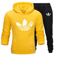 Wholesale jogging sport clothes for men for sale - Group buy 2019 New Brand Fashion sport warm suit jogging for Men Sportswear Print Hoodies Pullover tracksuit Sweatshirts Clothing set