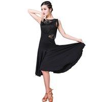 franja de tango venda por atacado-Mulheres Menina Vestido De Dança Latina 5 Cores Fringe Roupas Cha Cha Salsa Rumba Desgaste Da Competição Tango Traje