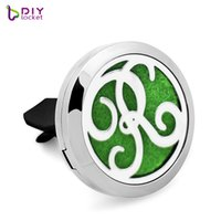 Wholesale essntial oil resale online - 316L stainelss steel mm Car Aromatherapy Locket Magnetic Essntial oil Diffuser Locket AE268