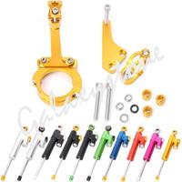 Wholesale damper kit resale online - Steering Damper Stabilizer Bracket Kits for Kawasaki ER6N