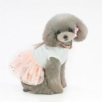 mardi gras tutu elbisesi toptan satış-Doğum günü Elbise için köpek pet tutu tavşan Elbise pamuk pembe küçük köpek dantel lüks prenses Elbise