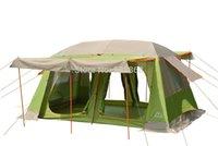 ingrosso tende di buona qualità-2015 Nuovo stile di buona qualità grande spazio due camere da letto con protezione solare e 3 pali della porta tenda da campeggio molto impermeabile