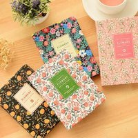 Wholesale cute kawaii diary resale online - New Arrival Cute PU Leather Floral Flower Schedule Book Diary Weekly Planner Notebook School Office Supplies Kawaii Stationery