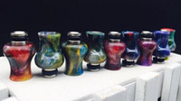 Wholesale mouth gourd for sale - Group buy ecig vape resin drip tip gourd shape mouth piece tip curved vape mouth heat resistant resin long drip tip